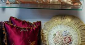 подушки гобелен и натуральный шелк
